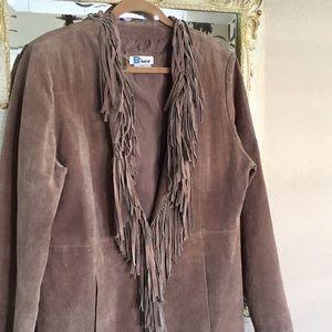 B*lucid suede jacket/coat. Tan color. Size XL